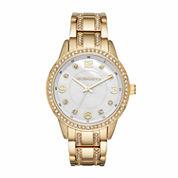 Liz Claiborne Womens Gold Tone Bracelet Watch-Lc1328