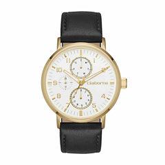 Claiborne Mens Black Strap Watch-Clm1203