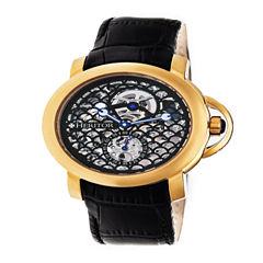 Heritor Mens Black Strap Watch-Herhr4004