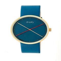 Simplify Unisex Blue Strap Watch-Sim4107
