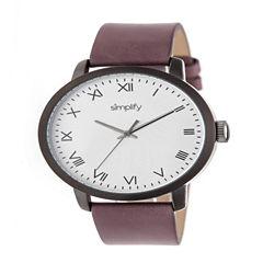 Simplify Unisex Purple Strap Watch-Sim4206