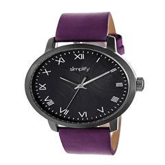 Simplify Unisex Purple Strap Watch-Sim4207