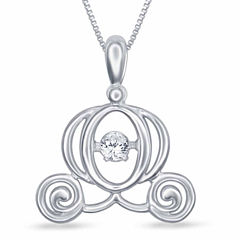 Enchanted By Disney Diamond Accent White Diamond Round Pendant