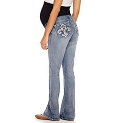 Love Indigo Classic Fit Bootcut Jeans-Maternity