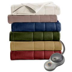 Sunbeam Heated Quilted Fleece Electric Blanket