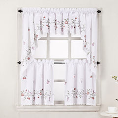 Charlene Rod-Pocket Kitchen Curtains