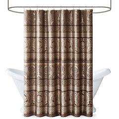 Madison Park  Venetian Jacquard Shower Curtain