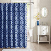 Intelligent Design  Elena Microfiber Shower Curtain