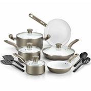 T-Fal Initaitives Ceramic Dishwasher Safe 14-pc Cookware Set