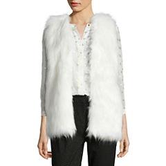 Liz Claiborne Faux Fur Sweater Vest