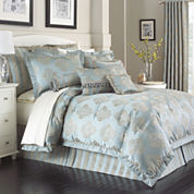 Marquis by Waterford® Hadley Blue 4-pc. Jacquard Comforter Set