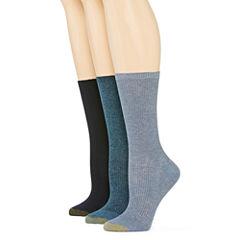 GoldToe® 3-pk. Non-Binding Crew Socks