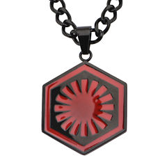 Star Wars® Episode VII First Order Mens Stainless Steel Logo Pendant Necklace