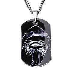 Star Wars® Episode VII Kylo Ren Mens Stainless Steel Dog Tag Pendant Necklace