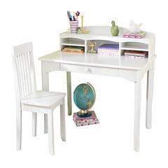 KidKraft® Avalon Desk with Hutch - White