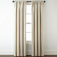 Royal Velvet® Plaza Lined Blackout Rod-Pocket/Back-Tab Curtain Panel