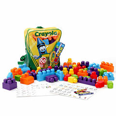 Amloid Kids Crayola 60 Pc. Building Block & Backpack Set