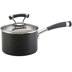 Circulon® Contempo 2-qt. Hard-Anodized Nonstick Straining Saucepan with Lid