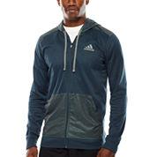 adidas® Go To Mixed-Fabric Full-Zip Hoodie