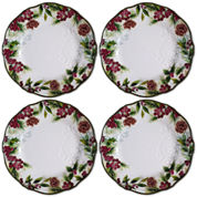 JCPenney Home Pineberry Set of 4 Dinner Plates