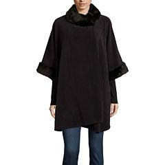 Mixit™ Fleece Wrap with Fur Collar