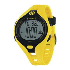 Soleus Dash Mens Yellow Digital Running Watch