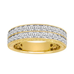 1 CT. T.W. Certified Diamond 14K Yellow Gold Vintage-Style Wedding Band