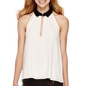 Olsenboye® Sleeveless Sequin-Collar Blouse