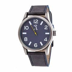 Brooklyn Exchange Mens Blue Strap Watch-Nwl398996as-Bl
