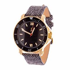 Xtreme Time Mens Gold Tone Bracelet Watch-Nwn407640g-Gy