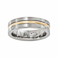 edward mirell mens 14k gold titanium wedding band - Jcpenney Jewelry Wedding Rings