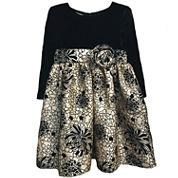 Marmellata Long Sleeve Babydoll Dress - Toddler