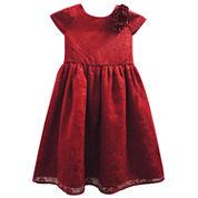 Marmellata Short Sleeve Cap Sleeve Party Dress - Big Kid