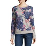 Liz Claiborne Long Sleeve Floral Sweatshirt