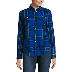 Stylus™ Long-Sleeve Boyfriend Utility Shirt - Tall