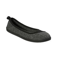 Dearfoams Knit Ballerina Slippers