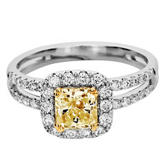 tw white and color enhanced yellow diamond engagement ring 9000 clearance - Clearance Wedding Rings