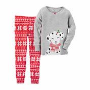 Carter's Girls Long Sleeve Pant Pajama Set-Baby