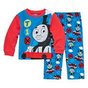 Boys Long Sleeve Thomas and Friends Kids Pajama Set-Toddler