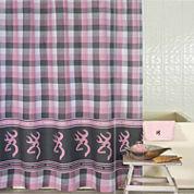 Browning Buckmark Plaid Shower Curtain