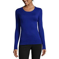 Worthington® Essential Long-Sleeve Pullover Sweater - Petite
