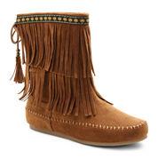 UNIONBAY® Bloomy Fringe Boots