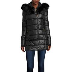 a.n.a® Faux-Fur Collar Puffer Jacket