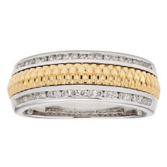 Diamente Beaute Womens 1/3 CT. T.W. White Diamond 14K Gold Wedding Band
