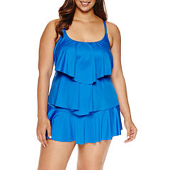 Liz Claiborne®  Tiered Tankini or Skirted Hipster - Plus