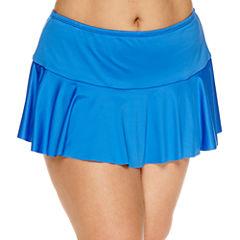 Liz Claiborne Solid Swim Skirt-Plus
