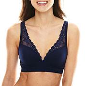 Ambrielle® Seamless Padded Lace Bra