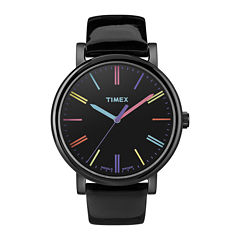 Timex® Originals Modern Womens Black Leather Strap Watch T2N790AB