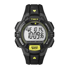 Timex® Ironman Rugged Mens Black Resin Strap 30-Lap Watch T5K7909J