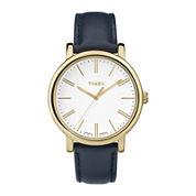 Timex® Originals Modern Womens Blue Leather Strap Watch TW2P63400AB
